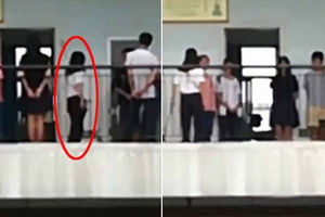 فیلم/ شلاق زدن دانش آموزان توسط معلم!