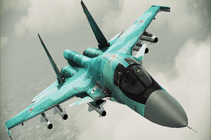برخورد دو جنگنده سوخو-34 روسیه در آسمان