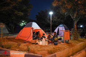 عکس/ چادرنشینی مردم تازهآباد پس از زلزله