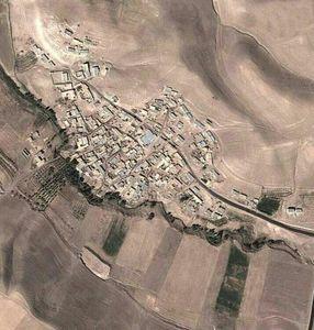 عکس هوایی عجیب از یک روستا در زنجان!