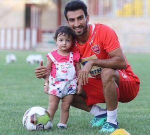 تبریک تولد فوتبالی ماهینی به دخترش +عکس