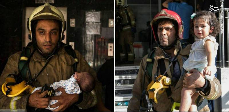 نجات کودکان از آتش سوزی