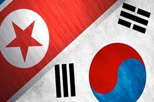 پرچم نمایه کره شمالی و کره جنوبی