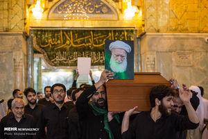 عکس/ خاکسپاری آیت الله مرتضی تهرانی در کربلا معلی