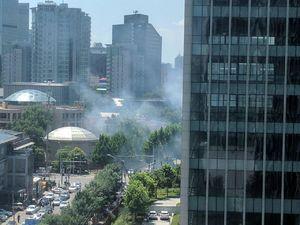 اولین فیلم از وقوع انفجار در نزدیکی سفارت آمریکا