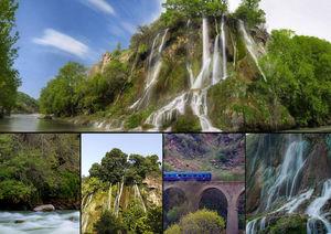 آبشاری بینظیر و دیدنی در لرستان +عکس