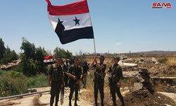 اهتزار پرچم سوریه در مرز فلسطین اشغالی