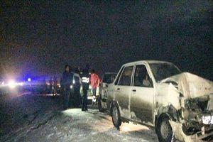 تصادف تریلی با ۴ خودرو در جاده قدیم جاجرود