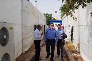 عکس/ آمادهسازی چادرهای عرفات برای حجاج ایرانی