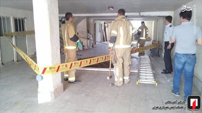 خوشبختانه در این حادثه به هیچ یک از اهالی ساختمان آسیبی نرسید