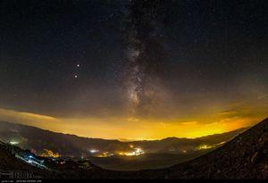 عکس/ تماشای ماه گرفتگی از ارتفاع 4200 متری