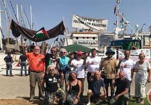 """ضرب و شتم سرنشینان کشتی """"شکستن محاصره"""" توسط صهیونیستها"""