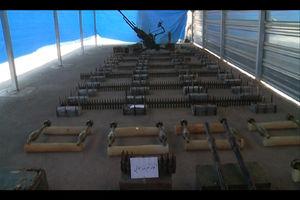 فیلم/ محموله سلاح جنگی کشف شده در شرق کشور