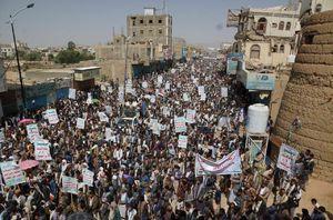 تظاهرات هزاران یمنی در صعده