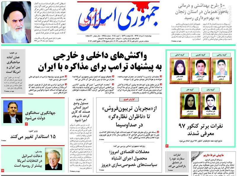 جمهوری اسلامی: واکنشهای داخلی و خارجی به پیشنهاد ترامپ برای مذاکره با ایران