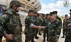 بازدید وزیر دفاع سوریه از مناطق جنوبی این کشور +عکس