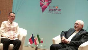 ظریف و وزیرخارجه فرانسه درباره برجام گفتوگو کردند