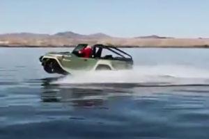 فیلم/ خودرویی مدرن برای استفاده در خشکی و دریا