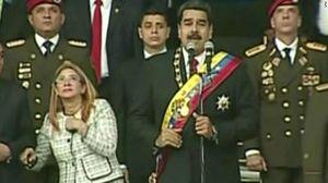 فیلم/ لحظه حمله تروریستی به رئیس جمهور ونزوئلا