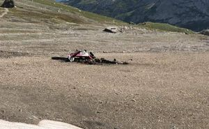 عکس/ سقوط دو فروند هواپیما در سوئیس