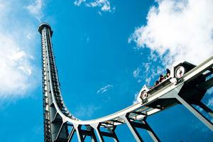 فیلم/ترسناک ترین ترن شهربازی با 43متر ارتفاع!