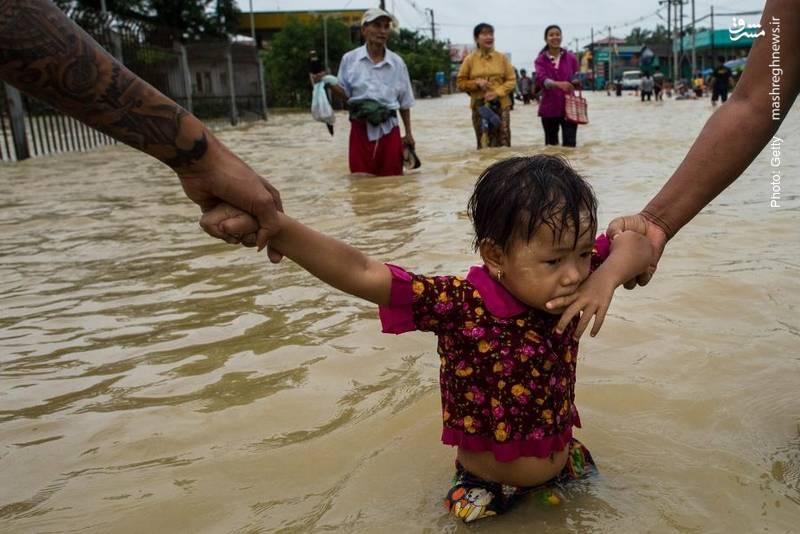 مرگ بیش از 10 نفر بر اثر سیل در میانمار