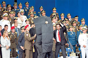 فیلم/ لحظه انهدام پهپاد ترور رئیس جمهور ونزوئلا!
