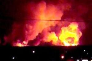 فیلم/ آتش در انبار تسلیحات نیروهای پیشمرگه کُرد