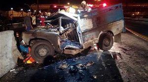 زندهزنده سوختن راننده در نیسان شعلهور +عکس