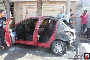 آتش گرفتن همزمان ۳ خودرو در شهرری