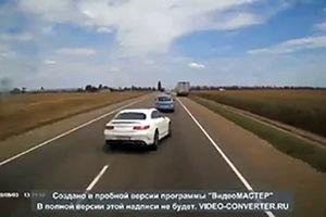 فیلم/ حادثه مرگبار برای راننده مرسدس بنز!
