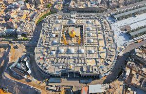 تصویر هوایی از حرم امام حسین