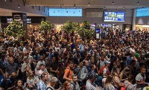عکس/ لغو 50پرواز در فرودگاه فرانکفورت