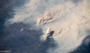 تصاویر ماهوارهای از آتش سوزی گسترده کالیفرنیا