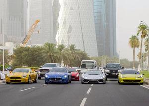 عکس/ بیفرهنگی به سبک بچه پولدارهای قطری!