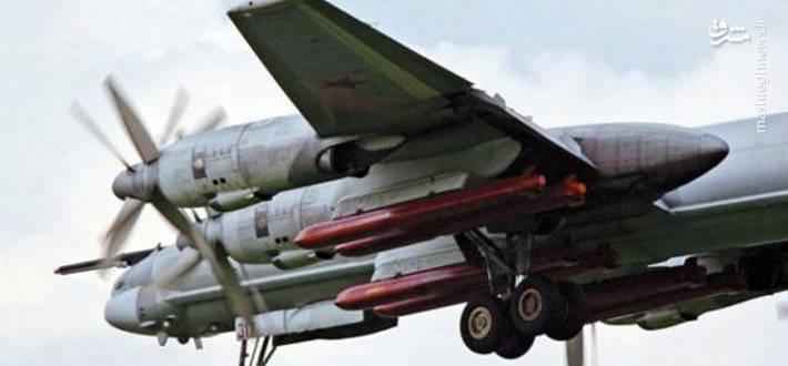 موشک های سری KH-101/102 در زیر بمب افکن TU-95
