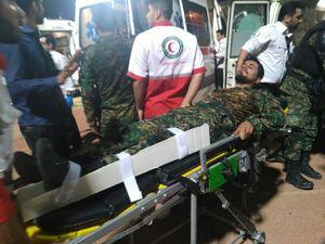 عکس/ مصدومیت مامور یگان ویژه در ورزشگاه غدیر