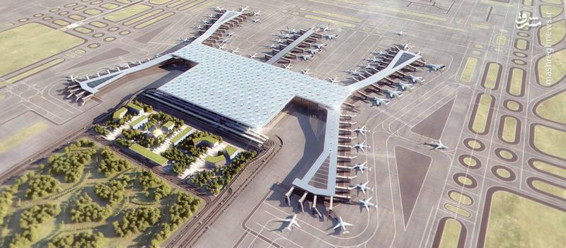 طرح نهایی از پروژه فرودگاه بزرگ استانبول