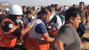 شهادت امدادگر فلسطینی باگلوله صهیونیستها+ عکس