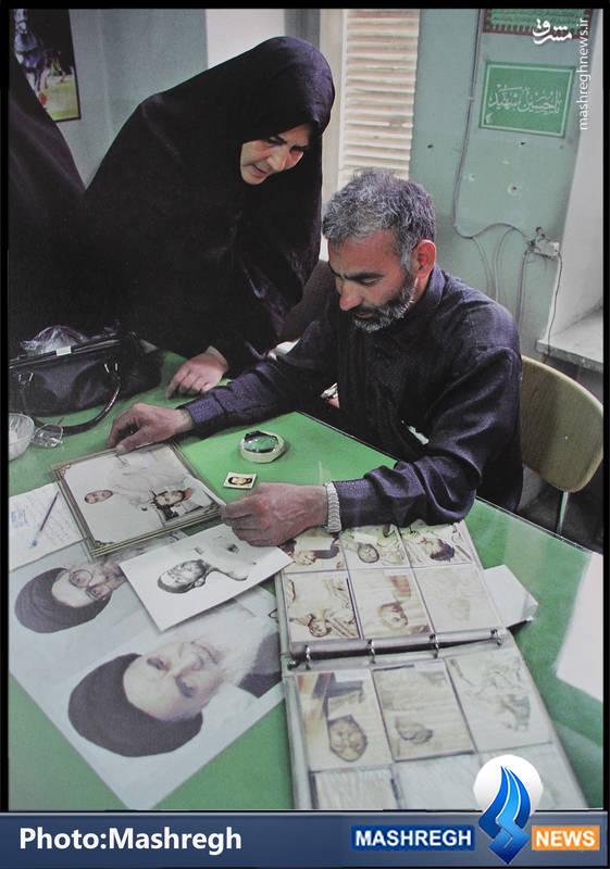 خانواده شهید مفقودالجسد در معراج الشهدا