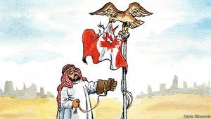 کاریکاتور اکونومیست درباره مناقشه ریاض و اتاوا