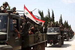 فیلم/ حرکت بزرگترین کاروان نظامی ارتش سوریه