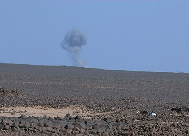 مناطق آلوده به داعش در بیابانهای استان سویداء به هزار و ۱۷۰ کیلومتر مربع کاهش یافت