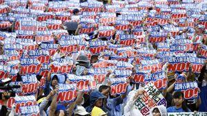 عکس/ تظاهرات ضد آمریکایی در ژاپن