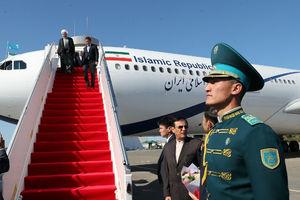 روحانی وارد قزاقستان شد