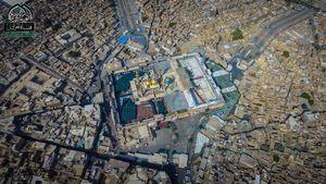 تصویر هوایی از حرم شریفین جوادین(ع)