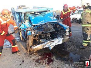 یک کشته در تصادف دو نیسان وانت