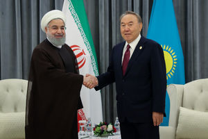دیدار روسای جمهوری اسلامی ایران و قزاقستان