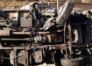 عکس/ واژگونی یک کامیون در جاده دماوند