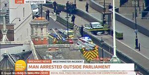 فضای امنیتی در اطراف پارلمان انگلیس